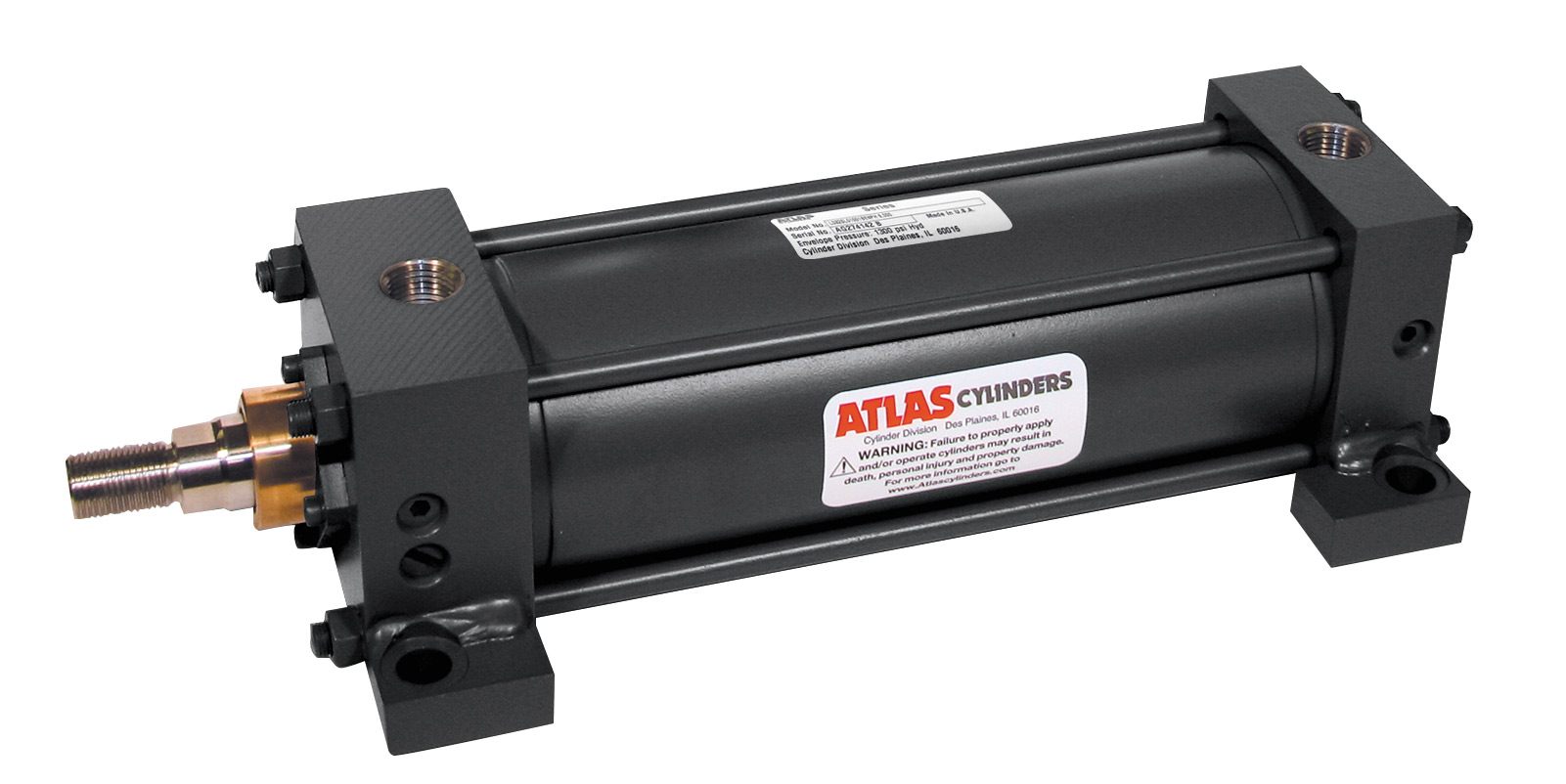 Heavy Duty Pneumatic Cylinders, Series A - Atlas Cylinders